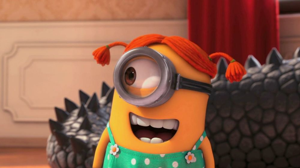 Minion dresses up as Pippi Longstocking in Despicable Me 2