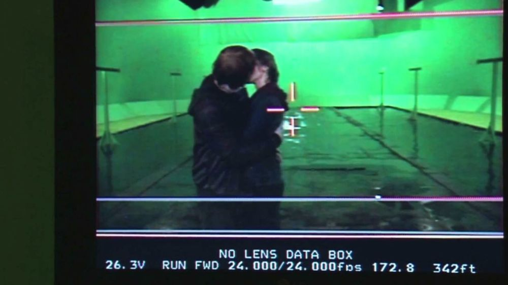 Behind the scenes Emma Watson Emma Watson And Rupert Grint Kissing