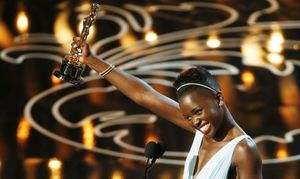 Lupita Nyong'o winning her Best Supporting Actress Oscar