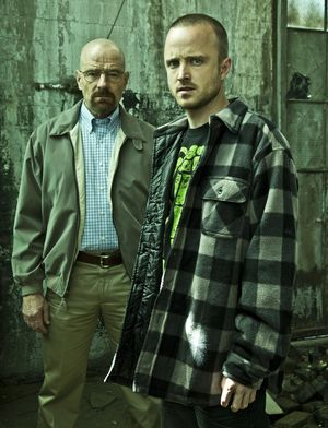 Pinkman and White in Breaking Bad