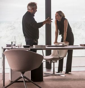 Sam Mendes and Lea Seydoux as Madeleine Swann