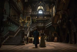 The beautiful dark old house in Crimson Peak