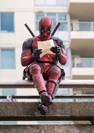 Deadpool Sit Around Reading
