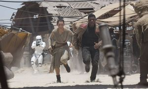 Daisy Ridley as Rey action shot