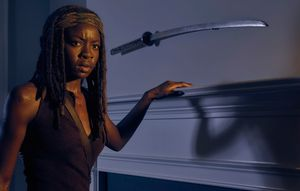 Danai Gurira as Michonne in The Walking Dead, Season 6