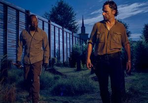 Lennie James and Andrew Lincoln as Morgan and Rick in The Wa