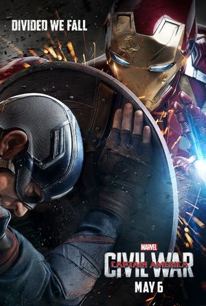 Iron Man Features in Civil War Poster