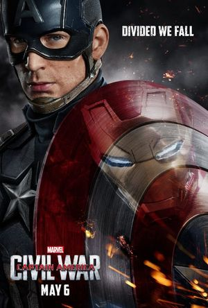 Captain America Features in Civil War Poster