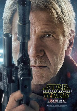 Harrison Ford, Han Solo close-up Poster