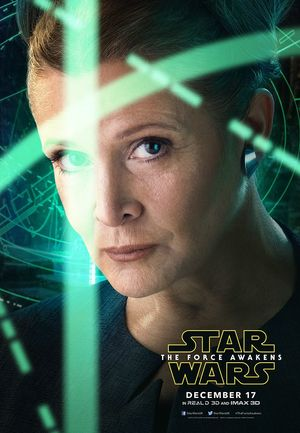 Carrie Fisher, Leia close-up Poster