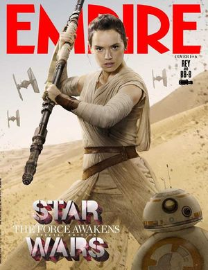 Rey and BB-8 on the Cover of Empire