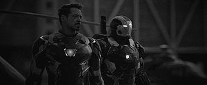 Captain America - Civil War Black and White gif