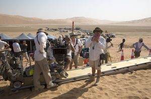 The crew on Star Wars: The Force Awakens