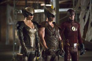 Hawkgirl, Hawkman, The Flash