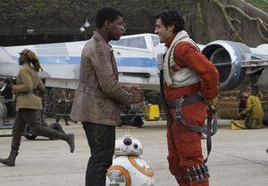 John Boyega and Oscar Isaac in The Force Awakens