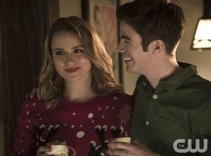 Patty Spivot & Barry Allen at Christmas Eve party