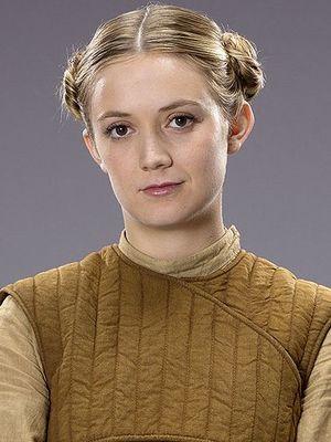 Billie Lourde in Star Wars: The Force Awakens