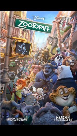 New poster for Disney's 'Zootopia'
