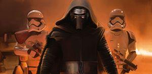 Kylo Ren with Stormtroopers