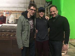 Tom Holland, Marvel co-president, and director Scott Derrick
