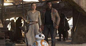 Rey, Finn and BB-8