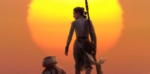 Star Wars: The Force Awakens, featuring Rey and BB-8