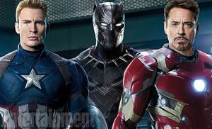 Captain America, Black Panther and Ironman featured on the c