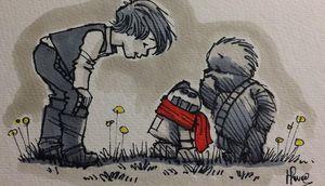 Illustrator James Hance Mashes up Winnie the Poo and Star Wa