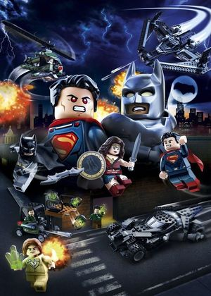 The latest official Batman v Superman poster, LEGO style