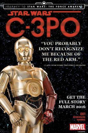 How did C-3PO end up with a red arm? Find out in March, appa