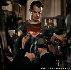 Superman meets the press in new Batman v Superman still