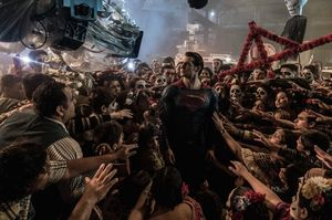 IMAX releases this cool behind-the-scenes still of Superman