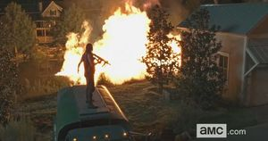 Fire lake sequence, The Walking Dead 6X09