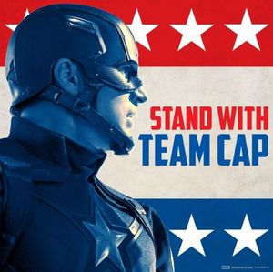 Captain America: Civil War Poster - Stand With Team Cap