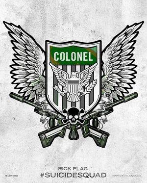 Harley Quinn's Tattoo Parlor Poster - Rick Flag