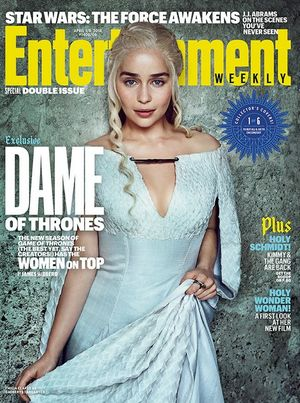 Emilia Clarke on EW Cover