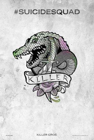 Harley Quinn's Tattoo Parlor Poster - Killer Croc