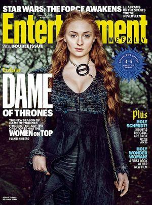 Sophie Turner on EW Cover