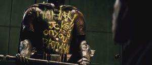 """""""The Jokes on you Batman"""" Robin Suit Graffiti"""