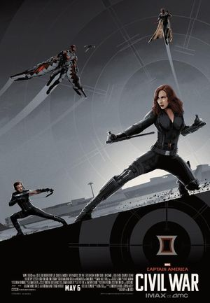 Black Widow at the forefront in new IMAX poster
