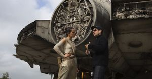 Daisy Ridley and J.J. Abrams