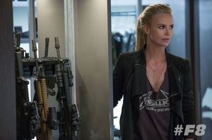First look at Charlize Theron as the villain Cipher in Fast