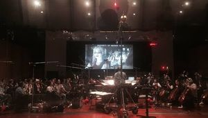 David Ayer shares a shot from a scoring session for the 'Sui