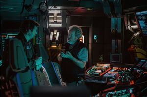 Danny McBride and Ridley Scott in a new set photo for 'Alien