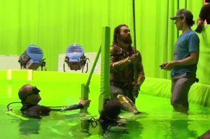 Aquaman surfaces on the set of Batman v Superman