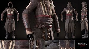 A closer look at Michael Fassbender's costume in 'Assassin's