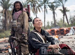 Donnie Yen as Chirrut Imwe and Jiang Wen as Baze Malbus