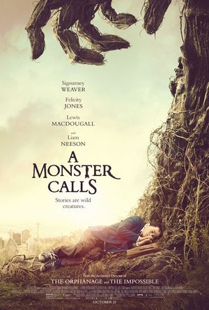 'A Monster Calls' poster lands with a helping hand