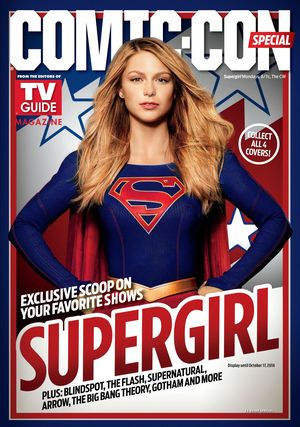 TV Guide's special SDCC magazine cover: Supergirl