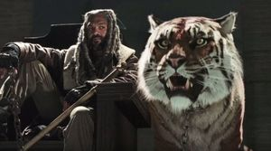 King Ezekiel and his tiger